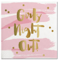 Girl's Night Out Gold Foil Pink Cocktail Napkins