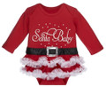 Santa Baby Christmas / Holiday Tutu with Glittery Accents  (0 - 6 Months)