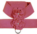 Dusty Lavender Ultrasuede Dog Harness w Garden Flowers & Swarovski Crystals