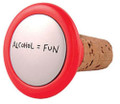 Quirky Corks! Alcohol = Fun Wine Bottle Stopper - Our Name is Mud