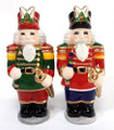 Colorful Christmas Holiday Nutcrackers Salt & Pepper Shaker Set