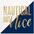 Set of 20 Nautical but Nice Cocktail Napkins wMetallic Accents