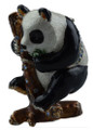 Panda with Bamboo Crystal Bejeweled Trinket Box w Matching Necklace