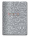 Glittery Silver Jetsetter Passport Cover with Rose Gold Accents