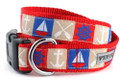 Nautical Icons Ahoy Dog Collar by Worthy Dog
