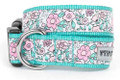Spring / Summer Garden Party Premium Ribbon Dog Collar by Worthy Dog
