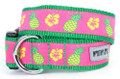 Tropical Pineapples and Flowers Premium Dog Collar by Worthy Dog