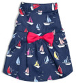 Nautical Navy Blue Sailboat Dog Dress by Worthy Dog