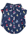 Nautical Navy Blue Sailboat Dog Shirt by Worthy Dog