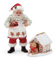 2 Piece Set Santa, His Dog and Everything Nice Figurine, 10""