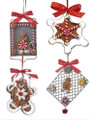 Set of 4 Cookie Cutter Gingerbread Ornaments by Kurt Adler