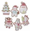 Set of 6 Asst'd Christmas Themed Gingerbread Clay Dough Ornaments by Kurt Adler