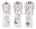 Set of 3 Christmas Inspirational Angel Figurine Ornaments by Gallerie II