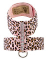 Pink Cheetah Giltmore Three Row Swarovski Crystal Ultrasuede Tinkie Harness