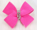 Pink Sapphire Nouveau Hair Bow with Swarovski Crystals by Susan Lanci