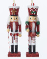 Set of 2 Hollywood™ Candy Cane & Gingerbread Soldier Nutcracker Ornaments