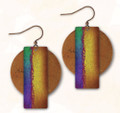 Hypo-allergenic Antiqued Copper 7AE Abstract Earrings by Illustrated Light