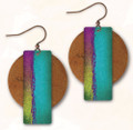 Hypo-allergenic Antiqued Copper 3AE Abstract Earrings by Illustrated Light