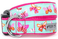 Spring Butterflies Premium Dog Collar by Worthy Dog