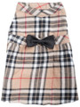 The Worthy Dog Tan Plaid Brushed Cotton Dog Dress