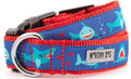 Chomp - Whimsical Funny Shark  Premium Dog Collar by Worthy Dog