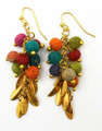 Anju Aasha Recycled Indian Saris Beaded Earrings