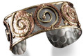 Anju Swirl Mixed Metal Brass & Copper Cuff Bracelet