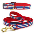 Nautical Anchors Aweigh Dog Premium Ribbon Collar or Leash by Up Country