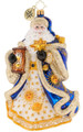 Fine European Mouth-blown Hand-painted Glass Celestial Santa Christopher Radko Christmas Ornament