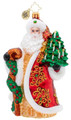 European Mouth-blown Hand-painted Glass Magnificent Santa Christopher Radko Christmas Ornament