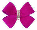 Plum Crazy Nouveau Hair Bow with Swarovski Crystals by Susan Lanci