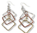 Anju Chetna Tri Color Mixed Metal Earrings from the Banjara Collection