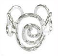 Anju Silver Plated Swirl Hena Adjustable Ring