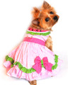 Watermelon Dog Harness Dress with Matching Leash by Doggie Design - Sizes XS - M
