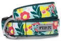 Spring Bouquet of Colorful Flowers Premium Dog Collar by Worthy Dog