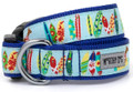 Surf's Up Colorful Surfboards with Dogs Premium Dog Collar by Worthy Dog
