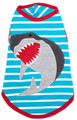 Jaws Stretchy Shark Designer Dog T-Shirt Tank by Worthy Dog
