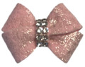 Pink Glitzerati Nouveau Hair Bow with Swarovski Crystals by Susan Lanci