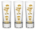 Set of 3 Gold Foiled Nautical Shot Glasses - Stay Salty