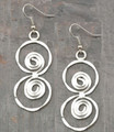 Anju Silver Plated Hammered Double Swirl Earrings