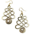 Anju Collection Gold Plated Swirl Earrings