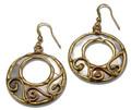 Anju Collection Mixed Metal Copper & Brass Swirl Earrings