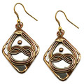 Anju Collection Mixed Metal Brass Boho Chic Earrings