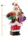 Christopher Radko Sugar-Craving Claus Santa Christmas Glass Ornament