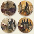 Old World Wine Image Tumbled Stone Coasters