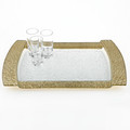 Tiara Rectangular Gold Band Tray