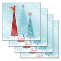 First Snow Tempered Glass Coasters