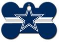 ID Tag for Pets -Dallas Cowboys- Bone Shape