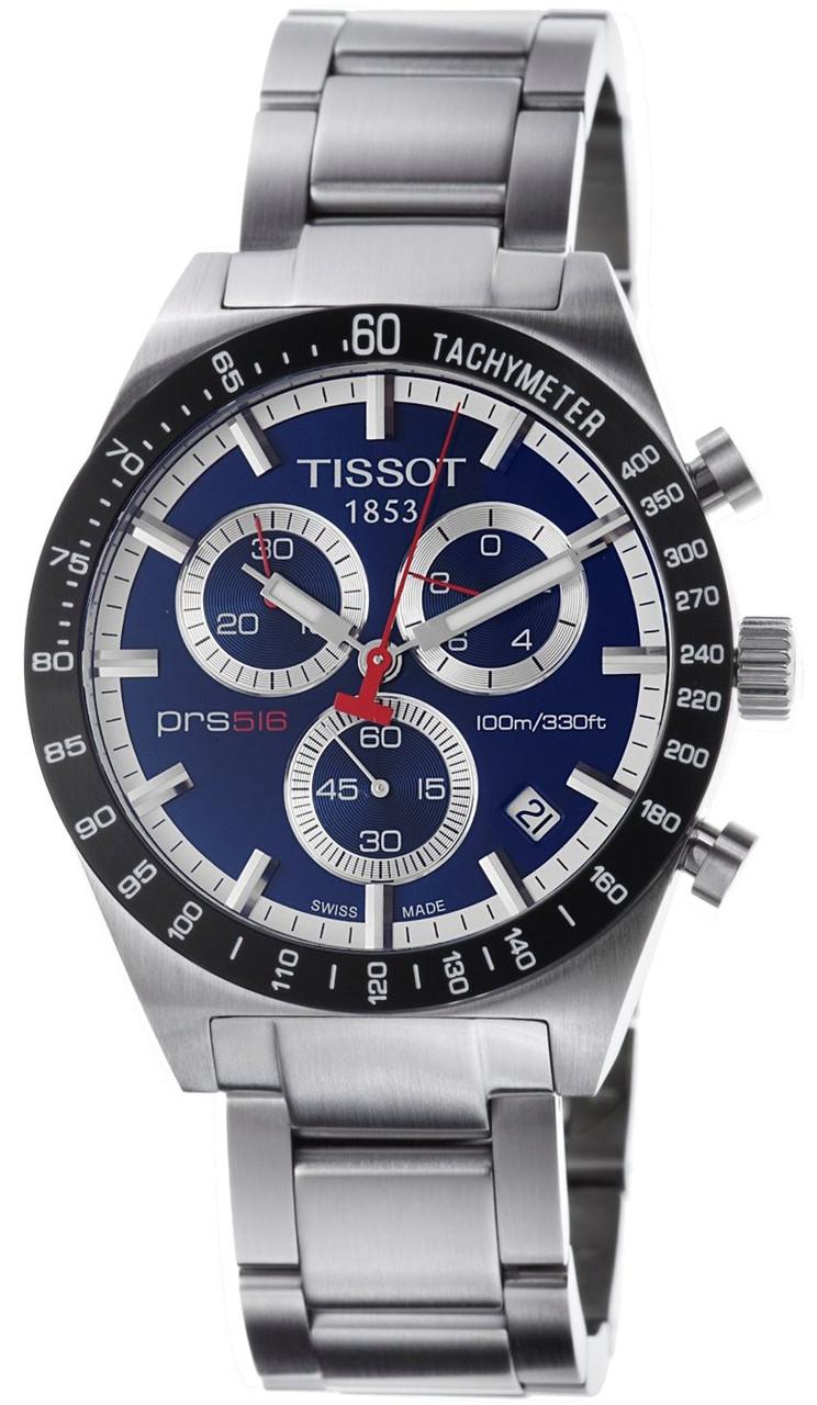 tissot t0444172104100 t sport prs 516 blue dial date ss. Black Bedroom Furniture Sets. Home Design Ideas