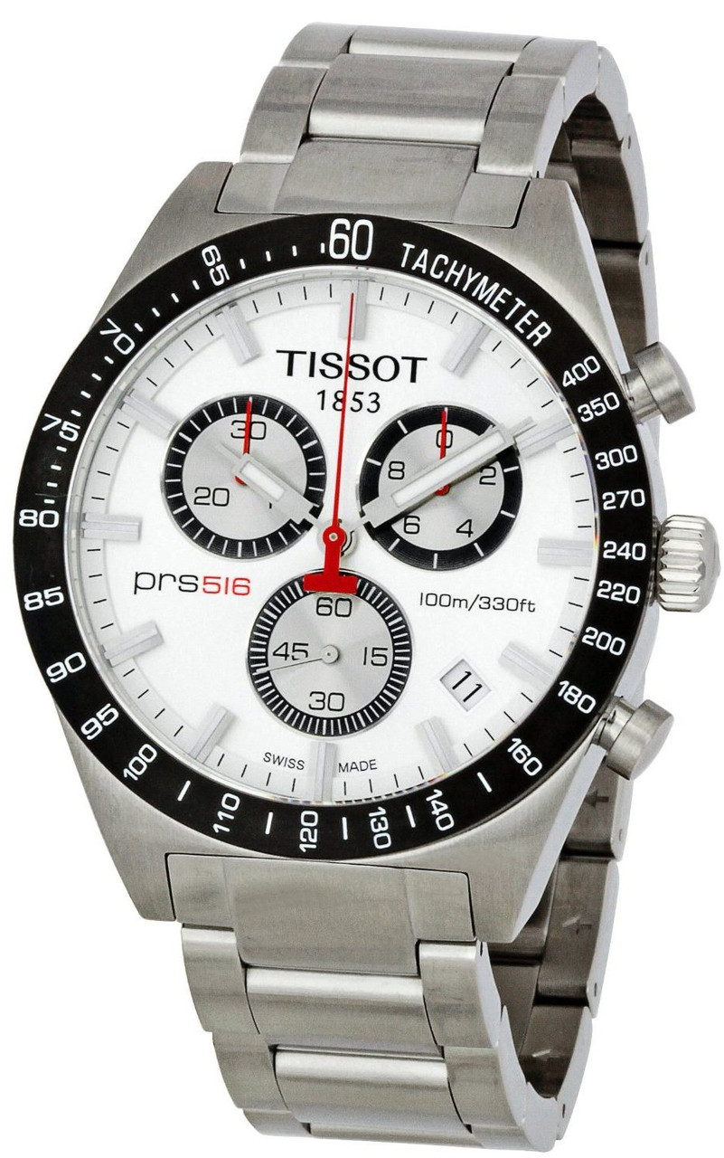 tissot t0444172103100 t sport prs 516 silver dial men 39 s. Black Bedroom Furniture Sets. Home Design Ideas
